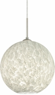 Besa 1JT-COCO1419-LED-SN Coco Contemporary Satin Nickel Carrera LED Drop Lighting