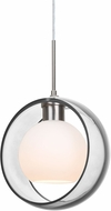 Besa 1JT-MANACL-LED-SN Mana Contemporary Satin Nickel Clear/Opal LED Mini Drop Ceiling Light Fixture