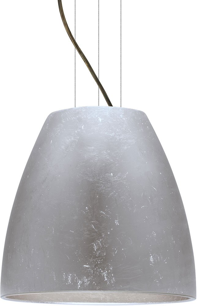 Besa 1kg Bell16sf Led Br Bella Contemporary Bronze Silver