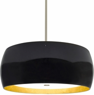 Besa 1KT-POGOGF-LED-SN Pogo Modern Satin Nickel Black/Inner Gold Foil LED Hanging Light Fixture