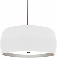 Besa 1KT-POGOSF-LED-BR Pogo Modern Bronze White/Inner Silver Foil LED Drop Ceiling Lighting