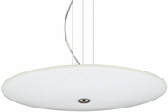 Besa 1KV-RENFRO20WS-LED-SN Renfro Modern Satin Nickel White Sparkle LED Pendant Light
