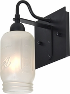 Besa 1WG-MILO4WF-BK Milo Black Light Sconce