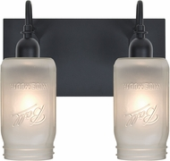 Besa 2WG-MILO4WF-BK Milo Black 2-Light Lighting For Bathroom