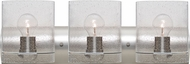 Besa 3WZ-CELTICBB-SN Celtic Modern Satin Nickel Bubble 3-Light Bath Light Fixture