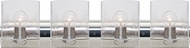 Besa 4WZ-CELTICBB-CR Celtic Contemporary Chrome Bubble 4-Light Bathroom Sconce