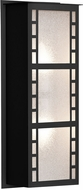 Besa NAPOLI16-GL-BK Napoli Contemporary Black Glitter Exterior Wall Lighting