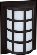 Besa SCALA13-SW-LED-BK Scala Modern Black Satin White LED Outdoor Wall Light Sconce