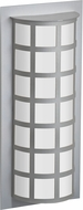 Besa SCALA20-SW-LED-SL Scala Contemporary Silver Satin White LED Exterior Lighting Sconce