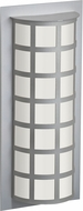 Besa SCALA20-WA-LED-SL Scala Contemporary Silver White Acrylic LED Exterior Lighting Wall Sconce