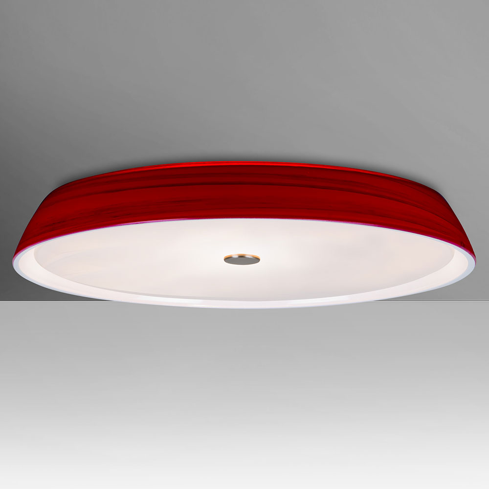 Besa SOPHI14RDC Sophi Contemporary Red Halogen 14 Flush