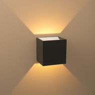 Bruck 103040BK-G-3 QB Contemporary Black Exterior / White Interior LED Lighting Sconce