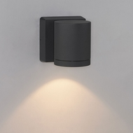Bruck 105010BK Cylinder Contemporary Black LED Outdoor Wall Light Sconce