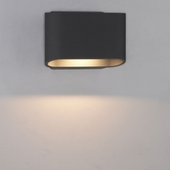 Bruck 105055BK Eclipse Modern Black LED Exterior Wall Lamp