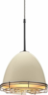 Bruck 110900-WIRE Classic Contemporary Ivory Line Voltage Mini Pendant Light