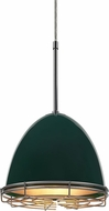 Bruck 110904-WIRE Classic Contemporary British Racing Green Line Voltage Mini Hanging Light
