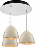 Bruck 240010CH-3-ELV-110900CH Classic Contemporary Chrome / Ivory Multi Lighting Pendant
