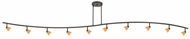 Cal 954-10 Serpentine Contemporary Halogen 10-Light Island Lighting