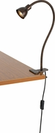 Cal BO-129-RU Gooseneck Contemporary Rust LED Clip On Light / Desk Lamp