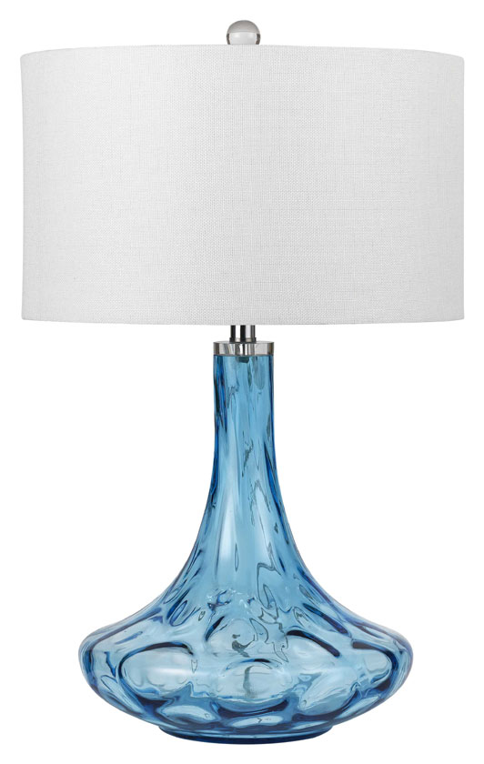 Cal BO 2464TB Eustis Aqua Blue 30 Tall Table Lamp For