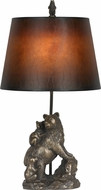 Cal BO-2594TB Bear Rustic Cast Bronze Table Light