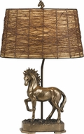 Cal BO-2596TB Stallion Rustic Cast Bronze Table Lamp Lighting