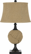 Cal BO-2600TB Rope Country Burlap Table Lamp