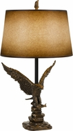 Cal BO-2658TB Eagle Rustic Cast Bronze Lighting Table Lamp