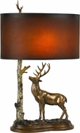 Cal BO-2659TB Deer Country Cast Bronze Table Lamp Lighting