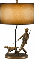 Cal BO-2660TB Hunter Rustic Cast Bronze Table Top Lamp