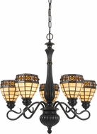 Cal FX-2332-5 Tiffany Antique Bronze Chandelier Lighting