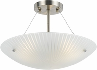 Cal FX-3501-1C Quadra Contemporary Frost Ceiling Lighting Fixture