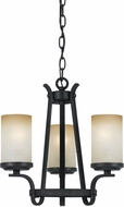 Cal FX-3504-3 Oelwein Texture Black Mini Chandelier Lamp
