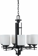 Cal FX-3505-6 Judson Texture Black Hanging Chandelier