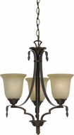 Cal FX-3506-3 Dabois Gold Bronze Mini Chandelier Light