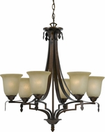 Cal FX-3506-6 Dabois Gold Bronze Chandelier Lighting