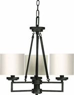 Cal FX-3507-3 Duray Burnish Black Mini Lighting Chandelier