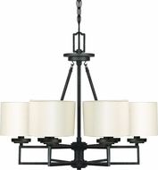 Cal FX-3507-6 Duray Burnish Black Chandelier Lamp