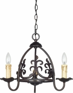 Cal FX-3509-3 Bird Cage Imperial Bronze Mini Hanging Chandelier