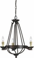 Cal FX-3511-3 Mojave Copper Bronze Mini Chandelier Lighting
