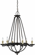 Cal FX-3511-6 Mojave Copper Bronze Lighting Chandelier
