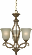 Cal FX-3512-3 Emmett Vintage Gold Mini Chandelier Lamp