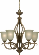 Cal FX-3512-5 Emmett Vintage Gold Chandelier Light
