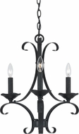 Cal FX-3520-3 Austin Texture Black Mini Lighting Chandelier