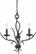 Cal FX-3521-3 Fairview Organic Black Mini Chandelier Light