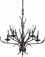 Cal FX-3521-5 Fairview Organic Black Ceiling Chandelier