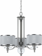 Cal FX-3522-3 Abaco Contemporary Brushed Steel Mini Hanging Chandelier