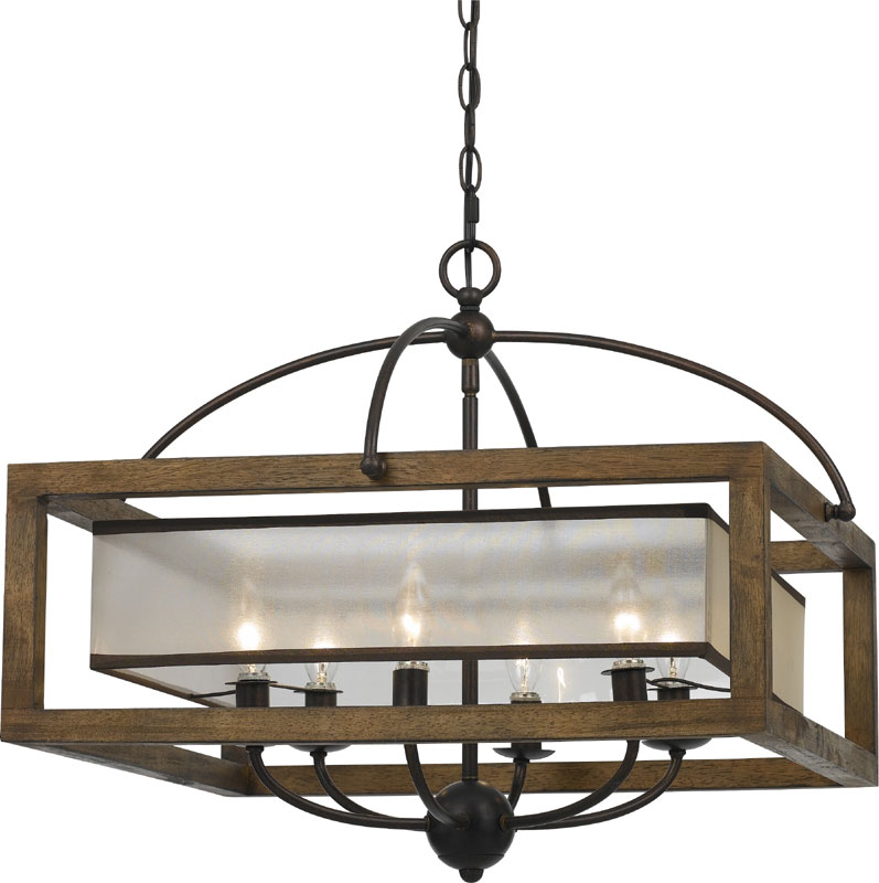 cal fx 3536 6 mission wood chandelier light loading zoom cal lighting wood chandelier