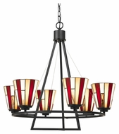 Cal FX-3543/6 Imperial 18.5  Wide Dark Bronze Chandelier