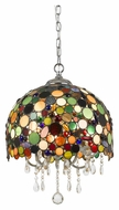 Cal FX-3545/1P Pasadena Modern Crystal Finish Hanging Light Fixture